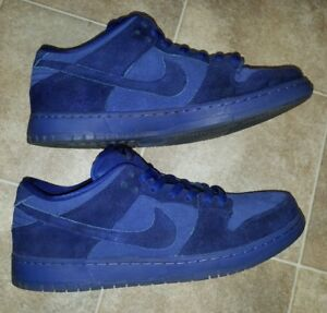 bd051cea95de Details about Men s 11.5 Nike SB Dunk Low Premium Blue Moon - Deep Royal Suede  Skate Shoes