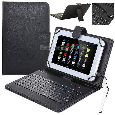 "For Huawei MediaPad 7"" 8"" 10.1"" Tablet PU Leather Stand Case Cover with Keyboard"