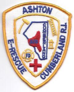Details about **CUMBERLAND RHODE ISLAND ASHTON FIRE DEPARTMENT E RESCUE  FIRE PATCH**