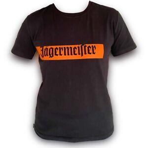 Original-Jaegermeister-TShirt-T-Shirt-Shirt-Schwarz-mit-Logo-und-Schriftzug