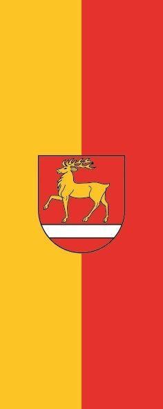 Fahne Flagge Landkreis Sigmaringen im Hochformat verschiedene Größen