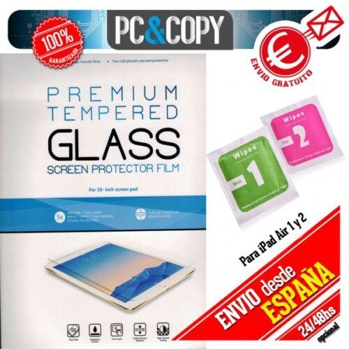 toallitas NE Protector cristal templado iPad Air A1474 calidad PREMIUM blister