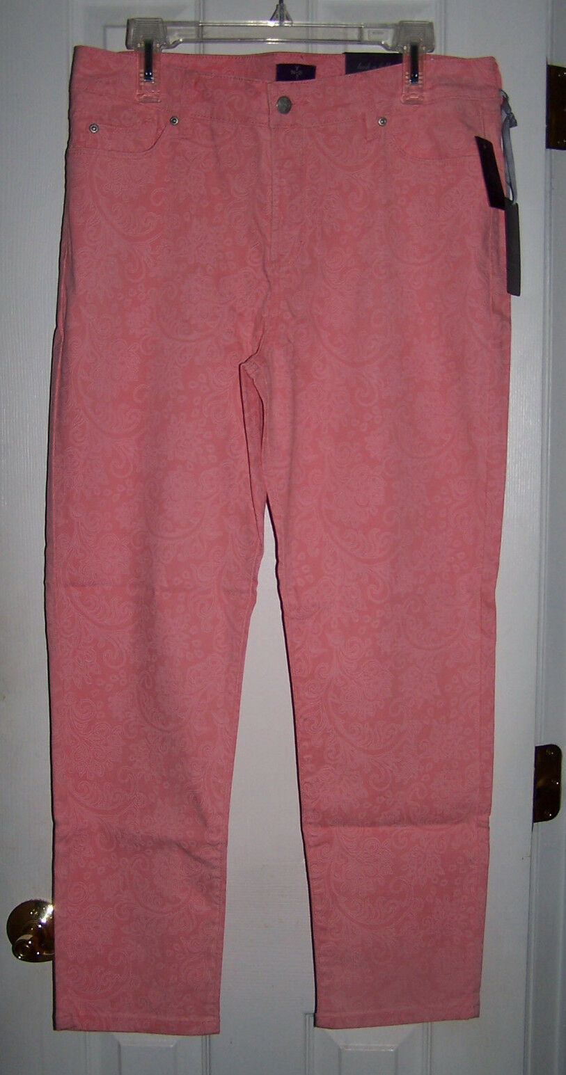 NOT YOUR DAUGHTERS JEANS NYDJ ALISHA ANKLE MARIgold JEAN  SHERBERT SZ 14  NWT