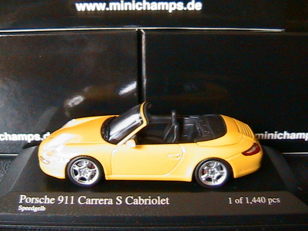 PORSCHE 911 997 CARRERA S CABRIOLET 2005 SPEEDjaune MINICHAMPS 400063031 1 43