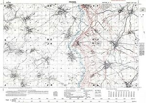 Trench Map WW1, Somme area, October 1916, 1:20,000 scale Ordnance ...