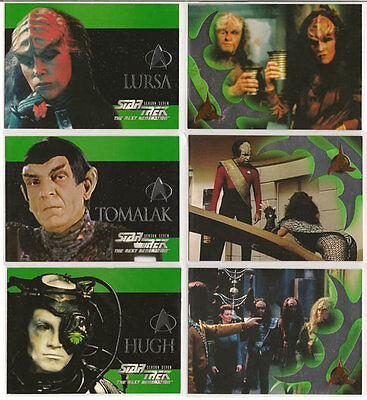 Star Trek TNG Next Generation Season 7 Embossed Insert Chase Card Set S37-S42