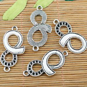 10pcs tibetan silver NO.8 design charms EF1403