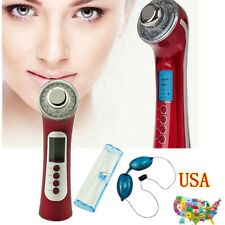 USA Photon 3M 5 in1 Ultrasonic Galvanic Ion Skin Care Massager Beauty ANTI-Age