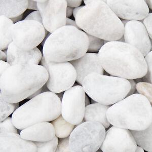 Top €0,29/kg) Carrara Marmor Kies Weiß 1500KG Big Bag schöner runder DG02