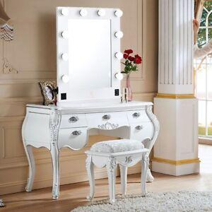 wei e hollywood make up schminkspiegel mit licht 10 b hne gro e kosmetikspiegel ebay. Black Bedroom Furniture Sets. Home Design Ideas
