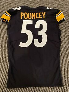 Details about 2018 MAURKICE POUNCEY PITTSBURGH STEELERS GAME USED JERSEY GREAT USE BLACK