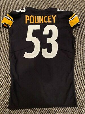 2018 MAURKICE POUNCEY PITTSBURGH STEELERS GAME USED JERSEY GREAT USE BLACK | eBay