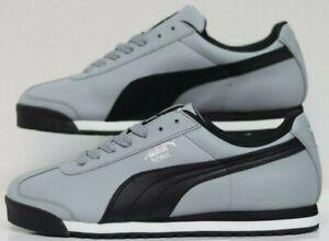 5639aac337052 Puma Roma Basic Quarry-Black-Puma Silver 353572-36 Men's Size   eBay