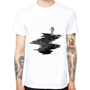 Diving-Astronauts-Men-039-s-Cotton-Funny-Cool-T-shirts-Short-Sleeve-Tops-Tee