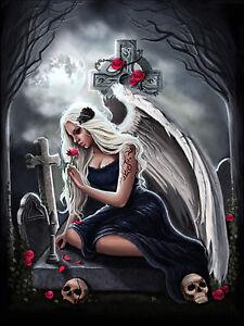 Full-drill-Diamond-Painting-Cross-Angel-Girl-Skull-Rose-Flower-Handicraft-6859X