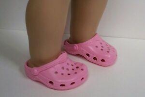 ec3816c8f137ae BUBBLEGUM PINK Kroc Duc Sandal Clogs Doll Shoes For 18