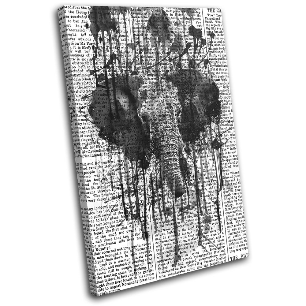 Elephant Abstract Paint Mono Mono Mono Animals SINGLE TELA parete arte foto stampa 53f34c