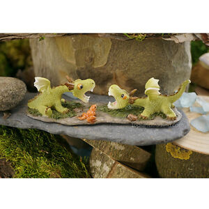 Miniature-Fairy-Garden-MINI-DRAGONS-PLAYING-NIB
