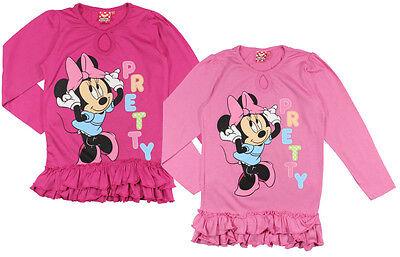 Minnie Mouse langarm Shirt 92 98 104 110 116 122 128 134 Tunika Langarmshirt NEU
