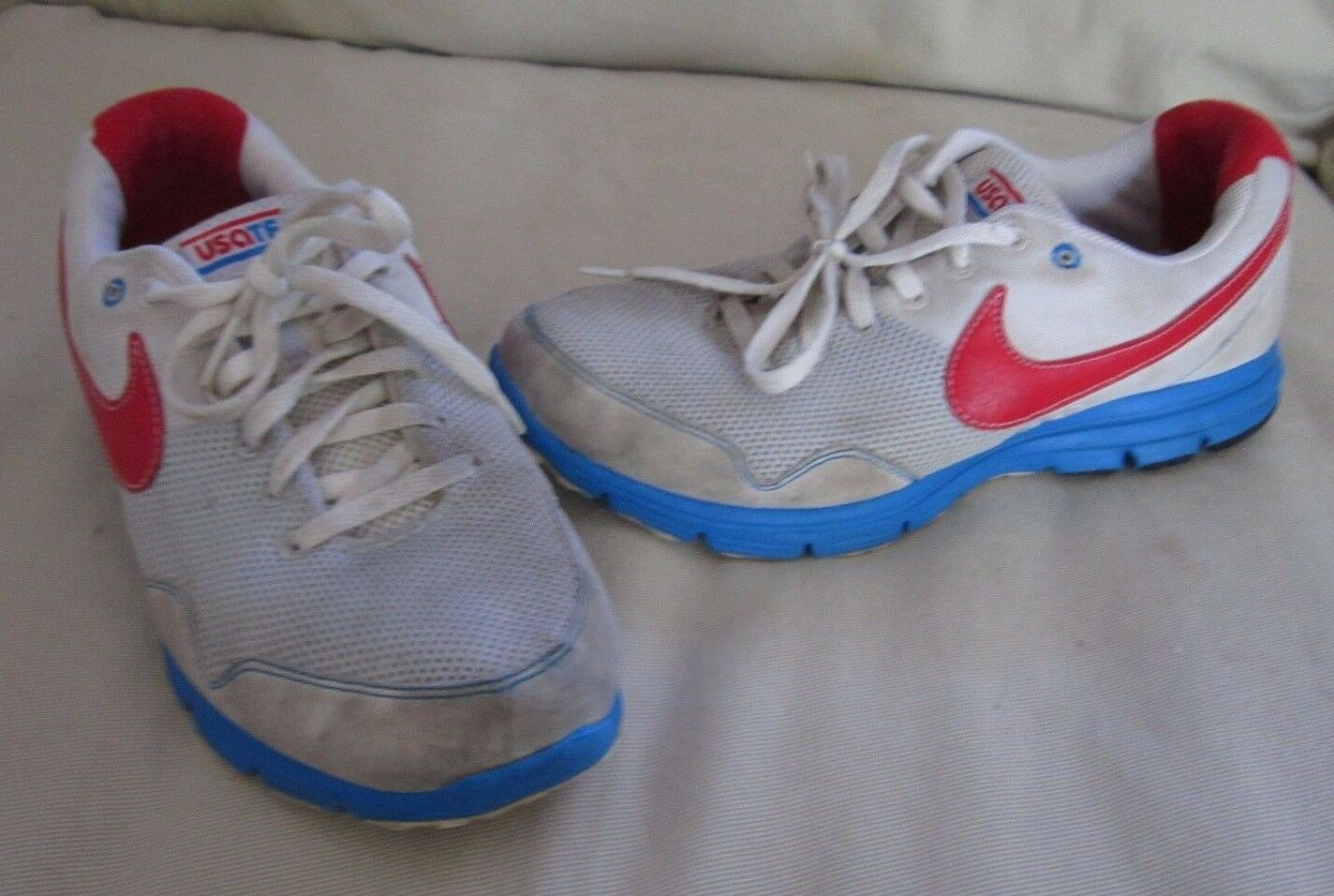 Nike Lunarfly + USATF Track & Field Running Shoes Sneakers Distressed Used 2010