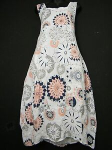 Grande Taille Lagenlook 100 Lin Italian Robe Ete 13 Cols 2 Poches Taille 16 22 Ebay