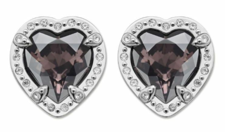 Swarovski Velika Heart Pierced Earrings Crystal Authentic MIB 5019069