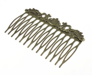 2pcs-Antique-Bronze-Filigree-Pad-Hair-Combs-Decoration-Wedding-Finding-C128