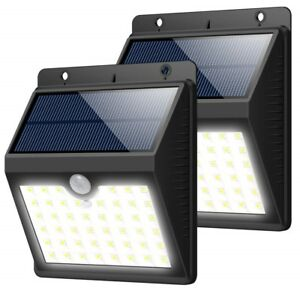 Details About 2pcs Solar Lights Outdoor Motion Sensor Security Deck Patio Lamp 30 Led 3 Mode B