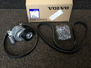 genuine volvo auxiliary v belt tensioner kit 9487168 petrol 1 8 2 0 v50 c30 s40 ebay. Black Bedroom Furniture Sets. Home Design Ideas