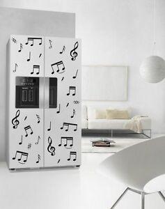 Large Music Fridge Kitchen Sticker Print Waterproof Refrigerator ...