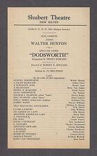 "Walter Huston ""DODSWORTH"" Sinclair Lewis / Fay Bainter 1935 New Haven Broadside"