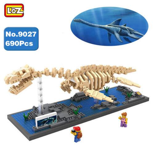 LOZ Plesiosaurus Fossil Dinosaur Skeleton Nano Blocks Diamond Mini Building Toy