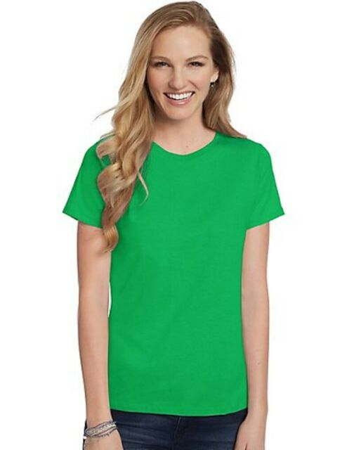 2 Hanes Women/'s Relaxed Fit Jersey ComfortSoft Creeneck T-Shirts 5680