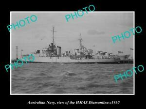 OLD-6-X-4-HISTORIC-PHOTO-OF-AUSTRALIAN-NAVY-SHIP-HMAS-DIAMANTINA-c1950