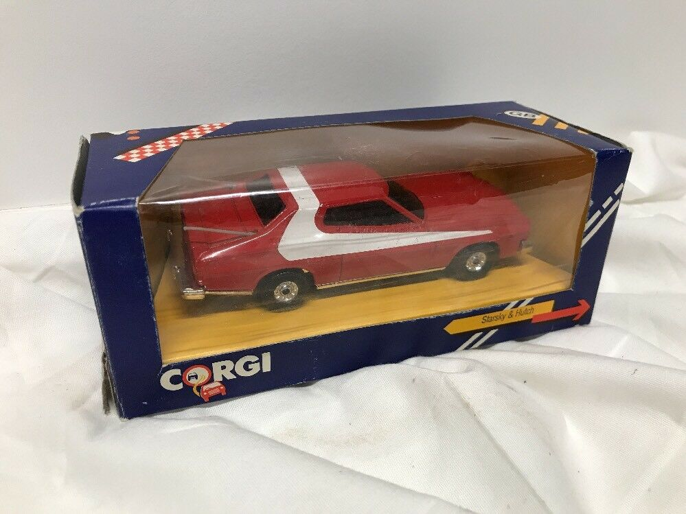 STARSKY & HUTCH FORD GRAN TORINO DIE-CAST CAR -1986-CORGI Great Britain