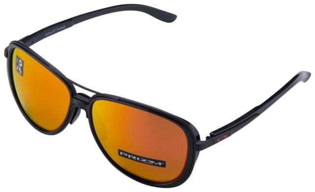 Oakley Split Time Women s Sunglasses OO4129-0458 Matte Black   Prizm Ruby  Lens 114f20f98943