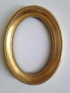 8 x 10 OVAL ORNATE ANTIQUE GOLD 8x10 Picture Frame