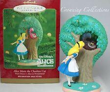 2000 Hallmark Alice Meets The Cheshire Cat Ornament Alice in Wonderland Disney