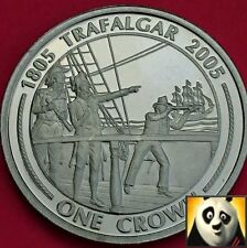 2005 GIBRALTAR 1 One Crown Coin Battle of Trafalgar Race and Chase 1805 Unc