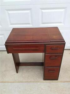 Beau Image Is Loading Singer Sewing Machine Cabinet Deco Style Mahogany SMC