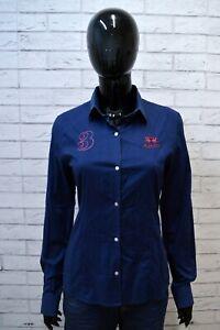 Camicia-Maglia-Donna-LA-MARTINA-Taglia-M-Blusa-Blu-Slim-Shirt-Woman-Manica-Lunga