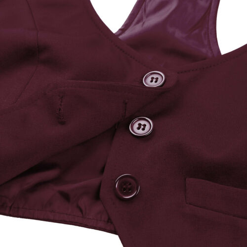 Women/'s V-Neck Slim Fit Vest Racer Back Waistcoat Formal Button Down Dressy Suit
