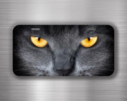 Grey Cat Vehicle License Plate Front Auto Car Tag Decor Bumper WH71