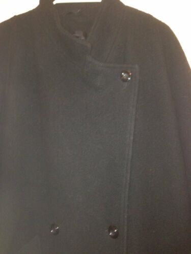 Wool ed elegante Bello Extra New Moda Coat Nero Pure Long Ladies wXq87ZI