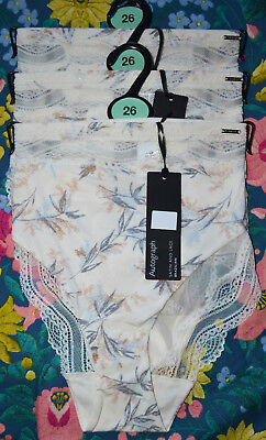 LADIES M/&S AUTOGRAPH BRAZILIAN KNICKERS SIZE 28 CREAM MIX 3 PAIR BNWT