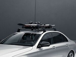 Oem genuine mercedes benz basic carrier roof rack 2 bar for Mercedes benz roof rails