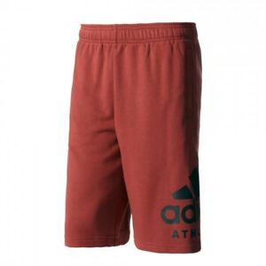 adidas-PANTALONCINO-BP8475-ROSSO-UOMO-Men-039-s-SID-Athletics-Logo-Shorts-Red