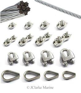 10 pcs galvanised steel simplex wire rope clip 4 mm