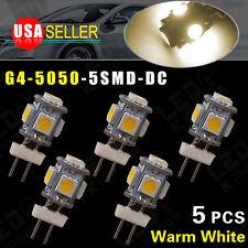 5X Warm White G4(bi-pin)5 SMD LED RV Home Garden Marine Cabinet Lamp Light DC12V