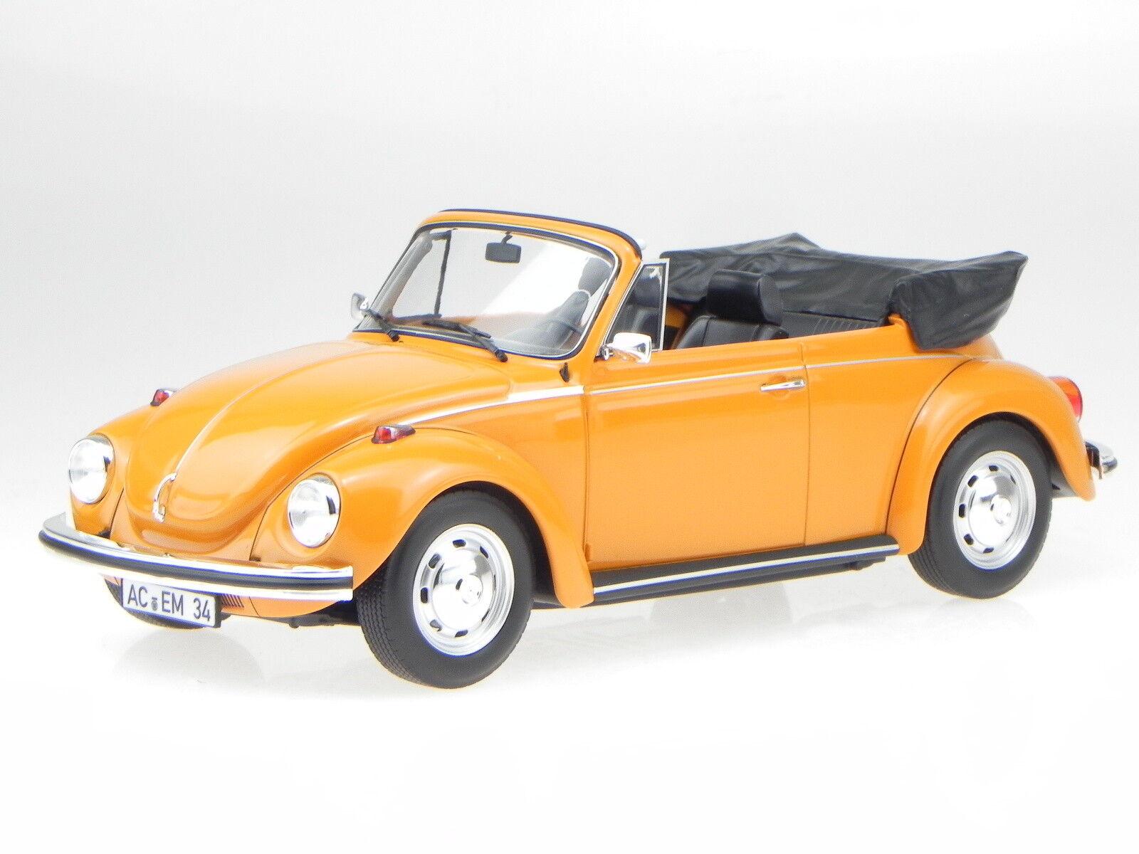 VW K fer 1303 Cabrio 1972 orange véhicule miniature 188521 Norev 1:18 | Sortie  | Shop  | Conception Habile  | Outlet